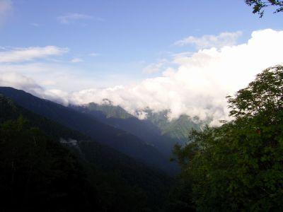 茶臼岳 聖岳方向
