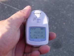 北緯45°GPSで確認