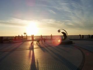 ノシャップ岬に沈む夕日