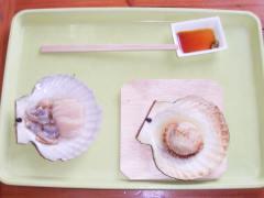焼ホタテ&ホタテ刺身