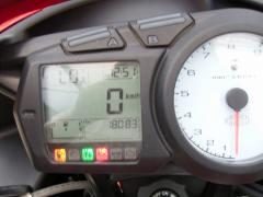 翌日メーター確認距離は18083Km