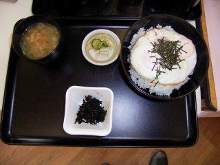道の駅伊賀 朝定食Bセット ハムエッグ丼