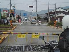 木ノ本駅の踏み切り
