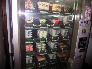 納豆自動販売機の中