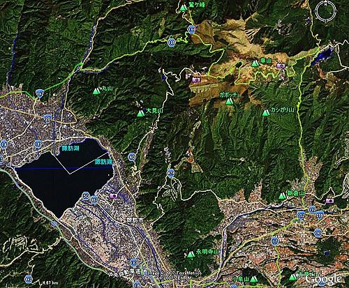 県道199 岡谷→八島湿原